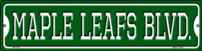 Maple Leafs Blvd Novelty Mini Metal Street Sign MK-1048