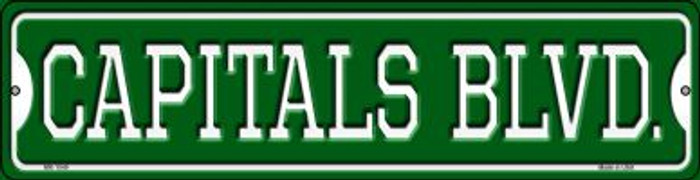 Capitals Blvd Novelty Mini Metal Street Sign MK-1049