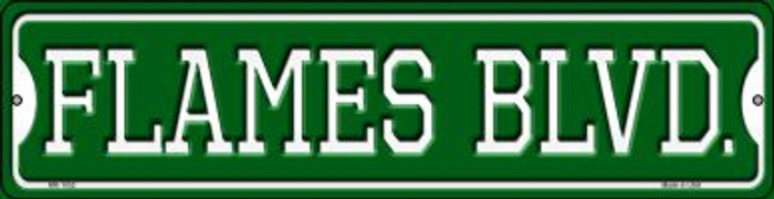 Flames Blvd Novelty Mini Metal Street Sign MK-1052
