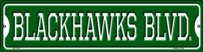 Blackhawks Blvd Novelty Mini Metal Street Sign MK-1053