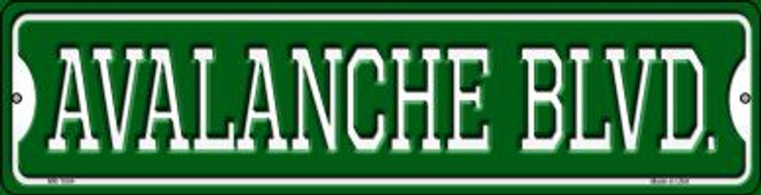 Avalanche Blvd Novelty Mini Metal Street Sign MK-1054
