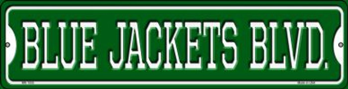 Blue Jackets Blvd Novelty Mini Metal Street Sign MK-1055