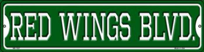 Red Wings Blvd Novelty Mini Metal Street Sign MK-1057