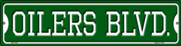 Oilers Blvd Novelty Mini Metal Street Sign MK-1058