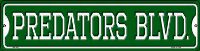 Predators Blvd Novelty Mini Metal Street Sign MK-1061