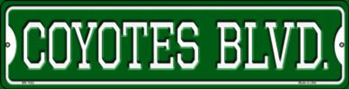 Coyotes Blvd Novelty Mini Metal Street Sign MK-1062