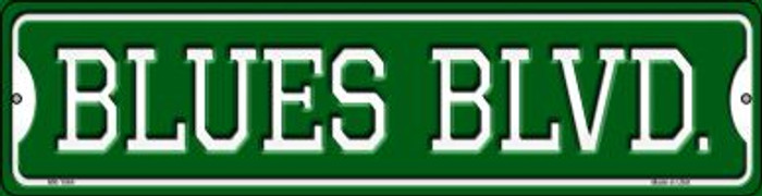 Blues Blvd Novelty Mini Metal Street Sign MK-1064