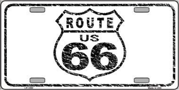 Route 66 Distressed Novelty Metal License Plate