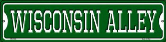 Wisconsin Alley Novelty Mini Metal Street Sign MK-1098