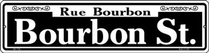 Bourbon Street Novelty Mini Metal Street Sign MK-1106