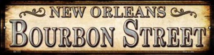 Bourbon Street New Orleans Novelty Mini Metal Street Sign MK-1113
