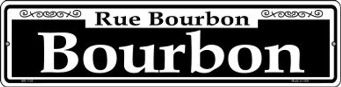Bourbon Novelty Mini Metal Street Sign MK-1120