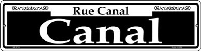 Canal Novelty Mini Metal Street Sign MK-1124