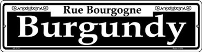 Burgundy Novelty Mini Metal Street Sign MK-1138