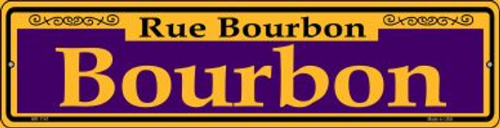 Bourbon Purple Novelty Mini Metal Street Sign MK-1141