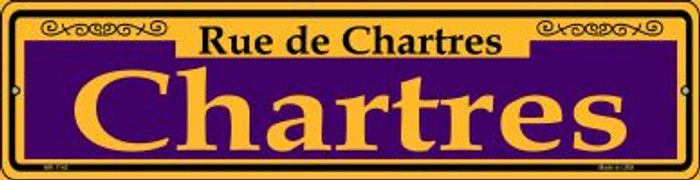 Chartres Purple Novelty Mini Metal Street Sign MK-1142
