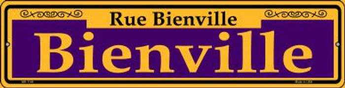 Bienville Purple Novelty Mini Metal Street Sign MK-1144