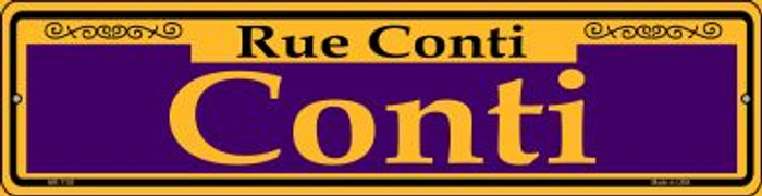 Conti Purple Novelty Mini Metal Street Sign MK-1155