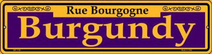 Burgundy Purple Novelty Mini Metal Street Sign MK-1159