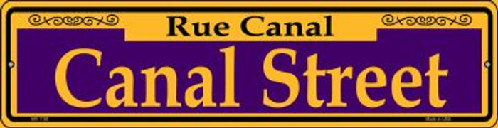 Canal Street Purple Novelty Mini Metal Street Sign MK-1165