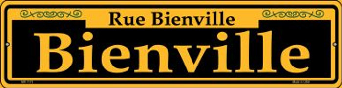 Bienville Yellow Novelty Mini Metal Street Sign MK-1173