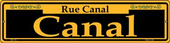 Canal Yellow Novelty Mini Metal Street Sign MK-1174