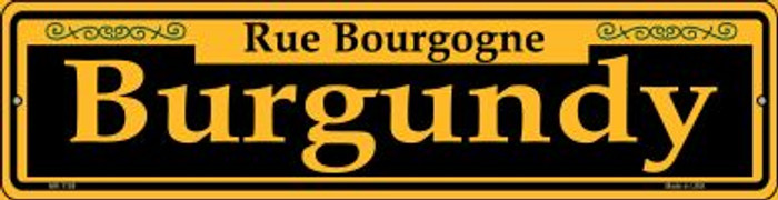 Burgundy Yellow Novelty Mini Metal Street Sign MK-1188