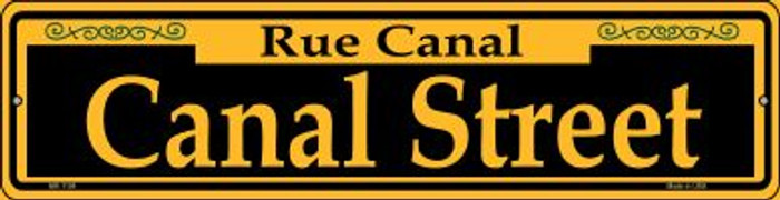 Canal Street Yellow Novelty Mini Metal Street Sign MK-1194