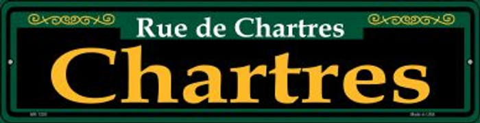 Chartres Green Novelty Mini Metal Street Sign MK-1200