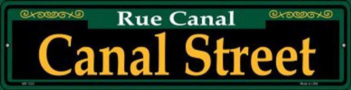 Canal Street Green Novelty Mini Metal Street Sign MK-1223