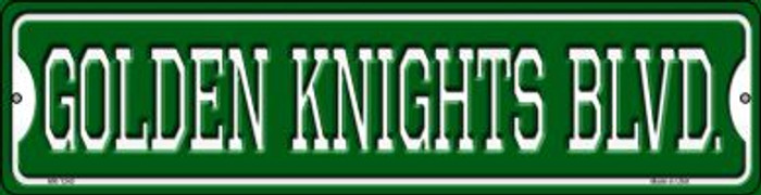 Golden Knights Blvd Novelty Mini Metal Street Sign MK-1240