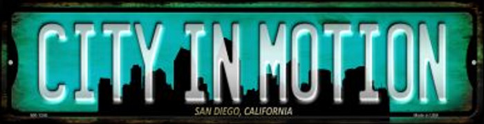 San Diego California City in Motion Novelty Mini Metal Street Sign MK-1246
