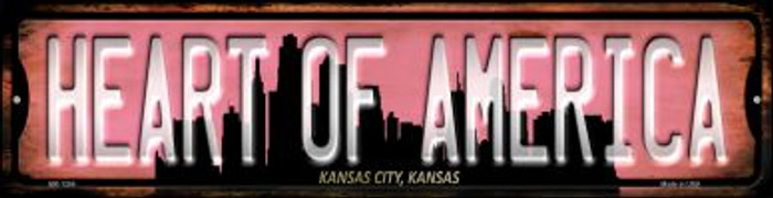 Kansas City Kansas Heart of America Novelty Mini Metal Street Sign MK-1254