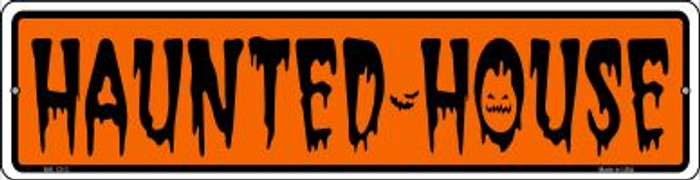 Haunted House Novelty Mini Metal Street Sign MK-1313