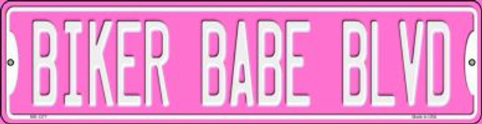 Biker Babe Novelty Mini Metal Street Sign MK-1377