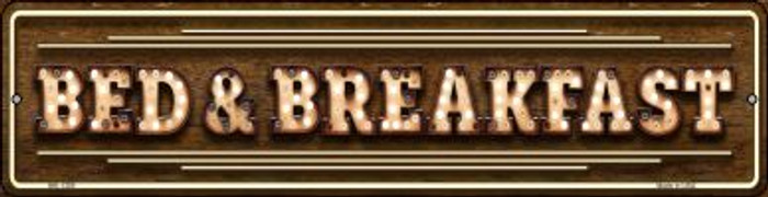 Bed and Breakfast Bulb Lettering Novelty Mini Metal Street Sign MK-1389