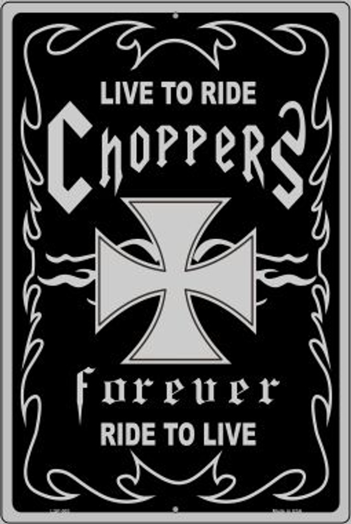 Live To Ride Novelty Metal Large Parking Sign LGP-003