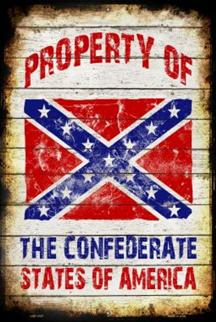 Property Of Confederate States Novelty Metal Large Parking Sign LGP-1147