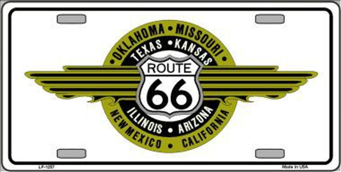 Route 66 Shield Emblem Novelty Metal License Plate