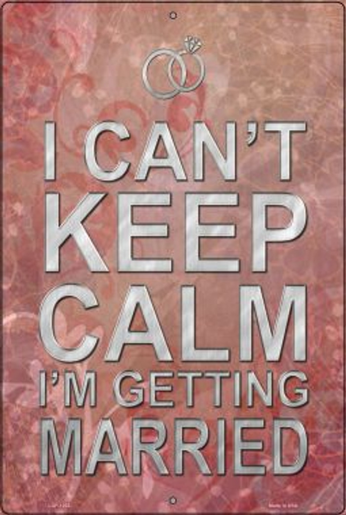 I Cant Keep Calm Novelty Metal Large Parking Sign LGP-1202