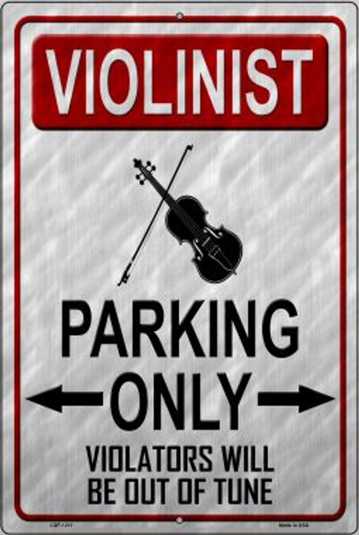 Violinist Parking Novelty Metal Large Parking Sign LGP-1211