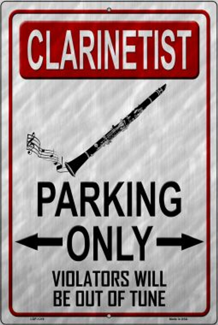 Clarinettist Parking Novelty Metal Large Parking Sign LGP-1219
