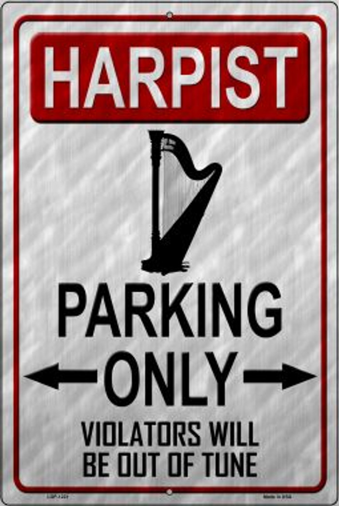 Harpist Parking Novelty Metal Large Parking Sign LGP-1221