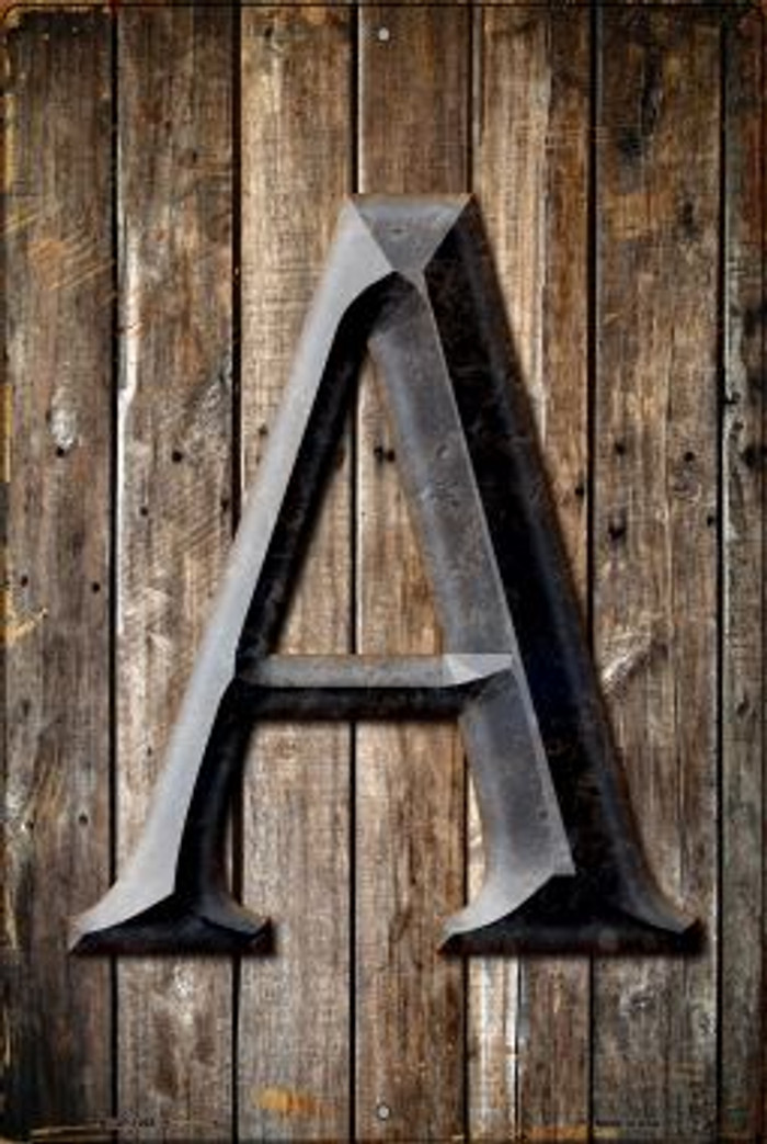 Letter A Novelty Metal Large Parking Sign LGP-1265