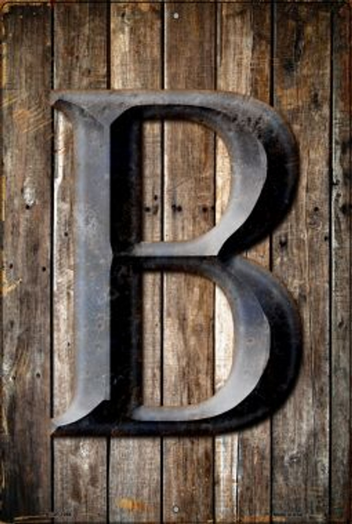 Letter B Novelty Metal Large Parking Sign LGP-1266