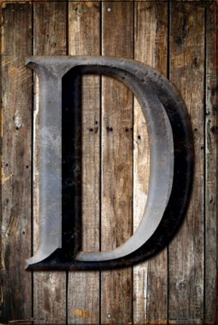 Letter D Novelty Metal Large Parking Sign LGP-1268