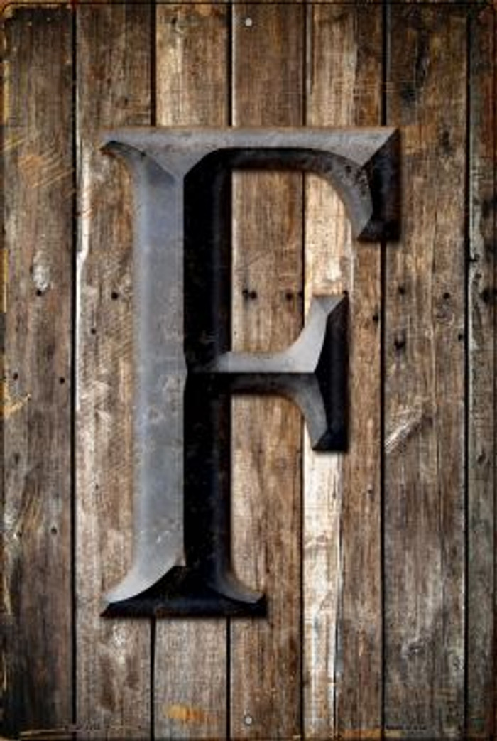 Letter F Novelty Metal Large Parking Sign LGP-1270