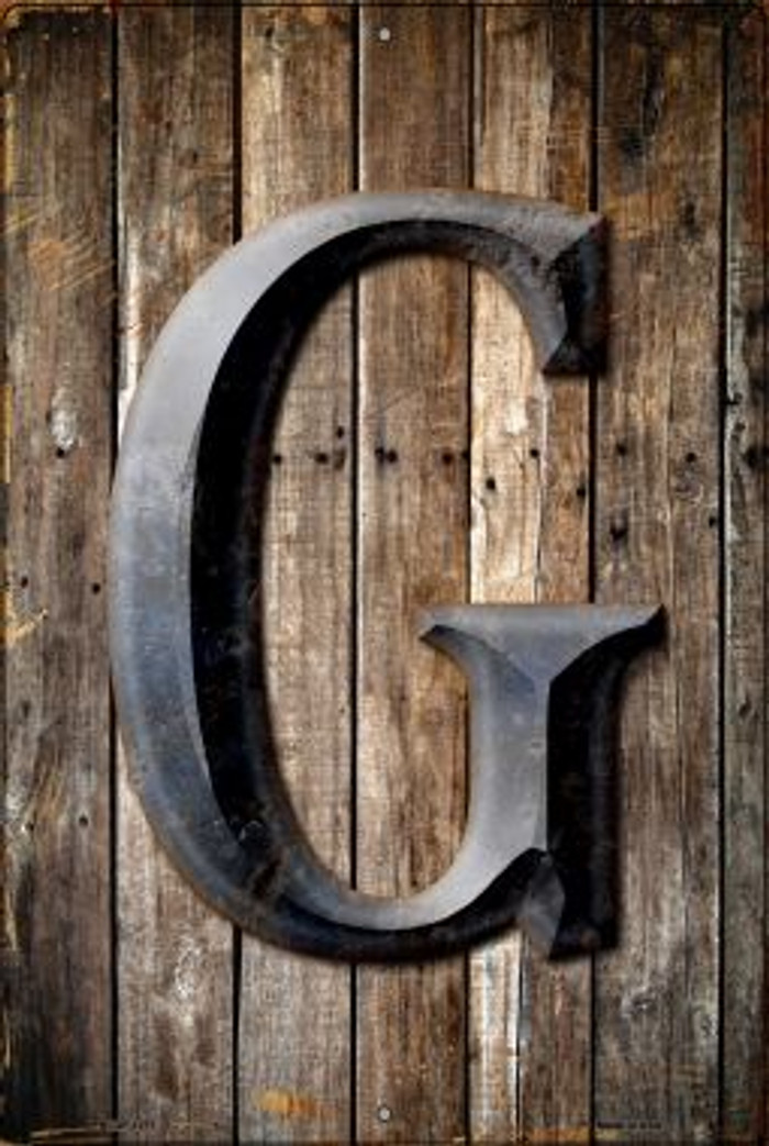Letter G Novelty Metal Large Parking Sign LGP-1271