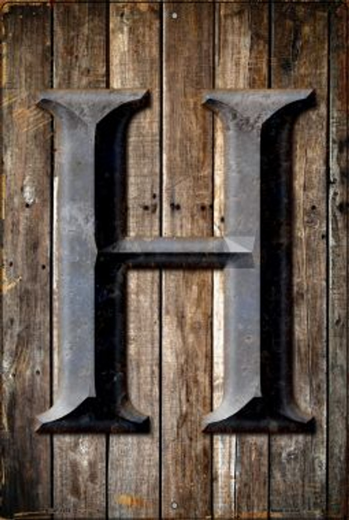 Letter H Novelty Metal Large Parking Sign LGP-1272
