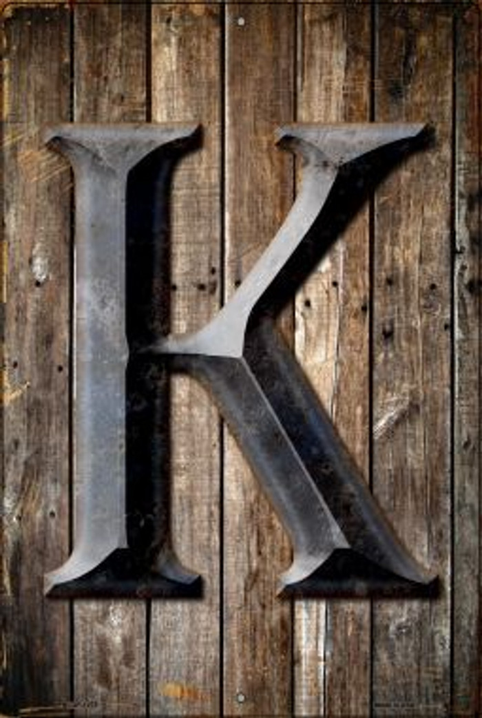Letter K Novelty Metal Large Parking Sign LGP-1275